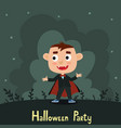 set of cute cartoon kid in colorful vector image vector image