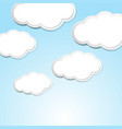 sky scene with clouds in blue sky vector image vector image