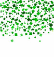 st patricks day background made of four leaf vector image