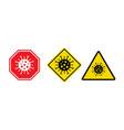 stop coronavirus covid 19 quarantine signs vector image