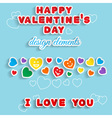 Valentines Day Design elements vector image vector image