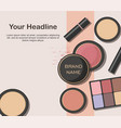 various beauty products vector image vector image