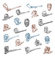 vintage smoking pipe antique prehistoric tobacco vector image
