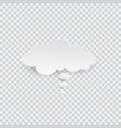 white blank speech bubble isolated vector image