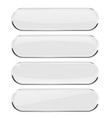 white oval buttons with metal frame vector image vector image
