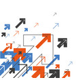 abstract success concept growing arrows motion vector image