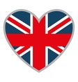 heart and british flag graphic vector image