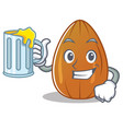with juice almond nut character cartoon vector image