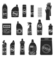 Group bottles of household chemicals vector image