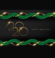 2020 new year 3d holiday pine tree garland card vector image