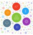 7 molecule icons vector image vector image