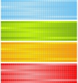 Abstract colorful squares design vector image