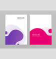 abstract fluid element shapes design for brochure vector image