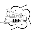 Abstract icon with an old locomotive-1 vector image vector image