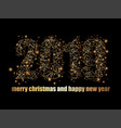 background with golden wire frozen text and stars vector image