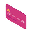 bank card front view cartoon isolated vector image