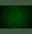 binary code green background big data and vector image vector image