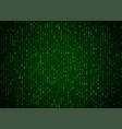 binary code green background big data vector image