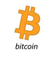 bitcoin logo of crypto currency isolated on white vector image