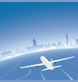 buenos aires skyline flight destination vector image vector image