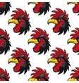 Cartoon cock or rooster seamless pattern vector image vector image