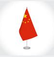 china flag on white background vector image