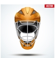Classic orange Goalkeeper Hockey field Helmet vector image vector image