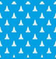 cone road pattern seamless blue vector image