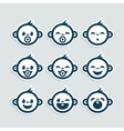 Cute Baby Boy Icons vector image vector image