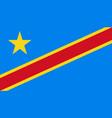 democratic republic congo flag icon in vector image vector image
