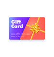 design gift card top down view to gold holiday vector image vector image