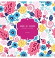 fairytale flowers frame seamless pattern vector image vector image