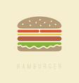 Flat hamburger symbol vector image vector image
