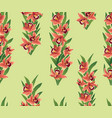 floral seamless pattern flower ohrid bouquet vector image vector image