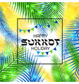 for the jewish holiday sukkot vector image vector image