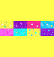 funky 90s memphis background abstract hipster vector image