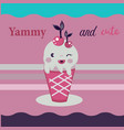funny fast food ice cream icon vector image