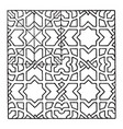 geometrical pattern found in the st croce church vector image vector image