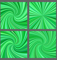 Green spiral and starburst background design set vector image vector image