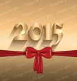 happy new year ribbon design 2409 vector image vector image
