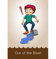 Idiom out of the blue vector image vector image