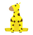 isolated stuffed giraffe toy vector image vector image