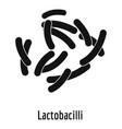 lactobacilli icon simple style vector image vector image