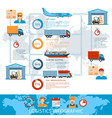 logistic and transportation infographics vector image vector image