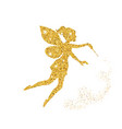 magical fairy with dust glitters magical fairy vector image vector image