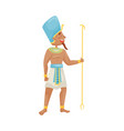 man in costume egyptian pharaoh vector image vector image