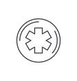 medicine symbol line icon concept medicine symbol vector image vector image
