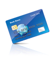 object credit card vector image