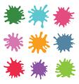 Paint splats set vector image vector image