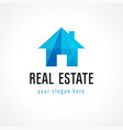 real estate logo home vector image